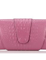 Donna Sacchetti Per tutte le stagioni Vacchetta Pochette Cerniera per Casual Bianco Nero Rosa