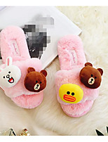 Women's Shoes Fleece Spring Fall Comfort Slippers & Flip-Flops For Casual Blushing Pink Gray Black White