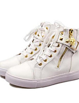 Women's Shoes Canvas Spring Comfort Sneakers Flat Heel For Casual Blue Black White
