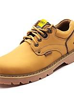 Для мужчин обувь Наппа Leather Осень Зима Удобная обувь Туфли на шнуровке Шнуровка Назначение Черный Желтый Темно-русый Темно-коричневый