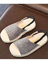 Girls' Shoes Linen Fall Winter Comfort Slippers & Flip-Flops For Casual Gray Black