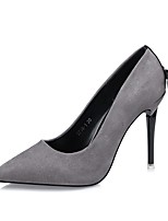 Women's Shoes Leatherette Spring Fall Comfort Heels Stiletto Heel Pointed Toe For Dress Red Yellow Gray Black