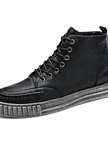 Недорогие -Для мужчин обувь Микроволокно Все сезоны Вулканизованная обувь Кеды Назначение Повседневные Черный Коричневый Зеленый