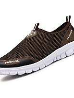 Для мужчин обувь Тюль Весна Осень Удобная обувь Мокасины и Свитер Назначение Повседневные Серый Коричневый Синий