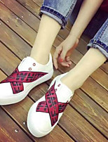 Women's Shoes PU Spring Comfort Sneakers Flat Heel For Casual Blue Red