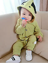 Baby Solid Color One-Pieces,100%Cotton Spring Fall