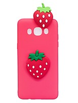 For Case Cover Pattern DIY Back Cover Case Fruit 3D Cartoon Soft TPU for Samsung Galaxy J7 (2016) J7 (2017) J5 (2016) J5 (2017) J3 (2016)