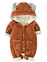 Baby Solid Color One-Pieces,100%Cotton Winter Fall