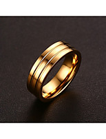 Women's Band Rings Simple Style Elegant Titanium Steel Circle Jewelry For Wedding Party