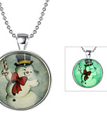 Women's Luminous Illuminated Pendant Necklace Acrylic Luminous Stone Pendant Necklace , Luminous Illuminated Christmas