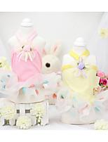 Chien Robe Vêtements pour Chien Décontracté / Quotidien Princesse Jaune Bleu Rose Costume Pour les animaux domestiques