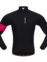 WOSAWE Cycling Jersey Unisex Long Sleeves Bike Jersey Top Stretchy Polyester Fleece Solid Classic Autumn/Fall Winter Mountain Cycling