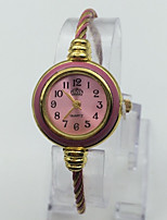 Women's Bracelet Watch Chinese Quartz Metal Band Casual Red Pink