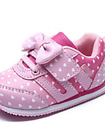 Girls' Shoes Leatherette Fall Winter First Walkers Sneakers For Casual Blushing Pink Purple Black