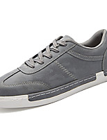 Men's Shoes Rubber Fall Comfort Sneakers Lace-up For Outdoor Khaki Gray Black