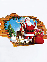 Christmas Cartoon People Wall Stickers 3D Wall Stickers Decorative Wall Stickers,Vinyl Material Home Decoration Wall Decal