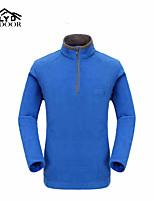 Men's Women's Hiking Fleece Jacket Keep Warm Outdoor Winter Fleece Jacket Full Length Visible Zipper 7inch Short Zipper for