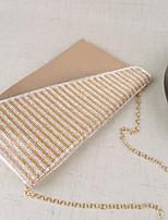 Women Bags All Seasons PU Shoulder Bag Zipper for Casual Gold Black