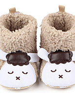 Baby Shoes Fleece Fall Winter Comfort First Walkers Boots For Casual Khaki Blushing Pink Gray