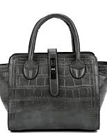 Women Bags All Seasons PU Tote Zipper for Shopping Casual Black Red Gray Dark Green