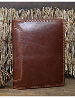 Men Bags All Seasons Cowhide Wallet Zipper for Event/Party Formal Brown Khaki