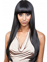 Women Synthetic Wig Capless Long Black With Bangs Natural Wigs Costume Wig