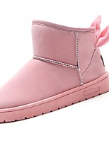 Women's Shoes PU Fall Winter Comfort Snow Boots Boots Round Toe Mid-Calf Boots For Casual Blushing Pink Gray Black