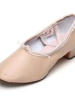 Women's Jazz Leatherette Practice Chunky Heel Blushing Pink 1