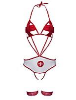 Body Vêtement de nuit Femme,Sexy Couleur Pleine Polyester Nylon Spandex