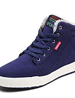 Men's Shoes Suede Fall Winter Comfort Sneakers Walking Shoes Split Joint For Casual Blue Green Black