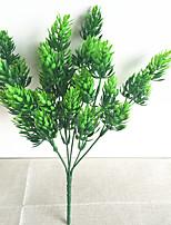 32cm 3 Pcs Home Decoration Artificial Green Plants Pine Tree Branch