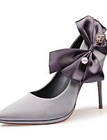 Для женщин Обувь Дерматин Весна Лето Удобная обувь Оригинальная обувь Туфли лодочки Обувь на каблуках На шпильке Бант Назначение Свадьба