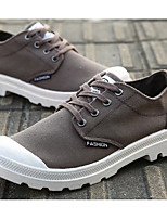 Men's Shoes Canvas Spring Fall Comfort Light Soles Sneakers For Casual Khaki Brown Gray Black