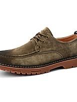 Для мужчин обувь Свиная кожа Зима Удобная обувь Кеды Шнуровка Назначение Повседневные Черный Серый Хаки