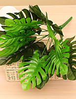 46cm 1 Pc 12 Branches/pc Home Decoration Artificial Green Plants Monstera Leaf