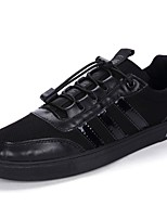 Men's Shoes Tulle Spring Fall Comfort Sneakers For Casual Black/White Black White