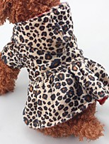 Dog Clothes One Piece Keep Warm Christmas Leopard Leopard Costume For Pets