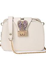 Women Bags PU Crossbody Bag Zipper for Casual All Seasons White Black Blushing Pink