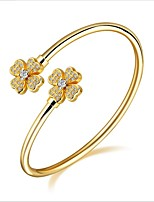 Women's Cuff Bracelet Fashion Luxury Zircon Gold Plated Jewelry For Wedding Office & Career