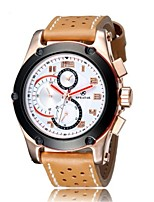 Men's Sport Watch Fashion Watch Wrist watch Quartz Leather Band
