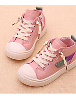 Girls' Shoes Synthetic Microfiber PU Fall Winter Comfort First Walkers Sneakers For Casual Blushing Pink Beige Black
