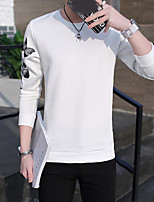 Men's Daily Casual Sweatshirt Solid Round Neck Micro-elastic Polyester Long Sleeve Fall
