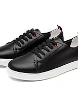 Men's Shoes Cowhide Spring Fall Comfort Sneakers Lace-up For Casual White/Green Black/White Pink/White