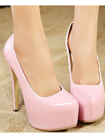 Women's Shoes Patent Leather Spring Fall Basic Pump Heels For Casual Light Pink Red Black White
