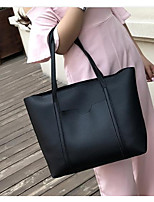 Women Bags All Seasons PU Tote Zipper for Event/Party Formal Wine Brown Black