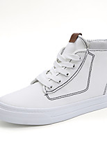 Women's Shoes Canvas Spring Summer Comfort Sneakers Flat Heel Round Toe Split Joint For Casual Outdoor Red Black White