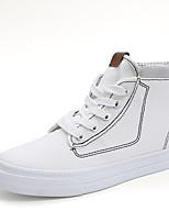 Da donna Scarpe Di corda Primavera Estate Comoda Sneakers Piatto Punta tonda Più materiali Per Casual Bianco Nero Rosso