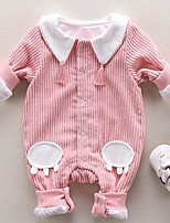 Baby Solid Color One-Pieces,Cotton Autumn/Fall Spring Blushing Pink Gray