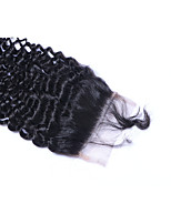 Natural Hairline Unprocessed Brazilian Hair Natural Color Curly 5*5inch Hair Lace Closure For Women