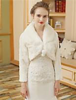 Women's Wrap Shrugs Faux Fur Wedding Party/ Evening Fur Lace-up